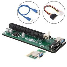 PCI-E PCI Express 1x To 16x Extender Riser Board Card + USB 3.0 SATA Power Cable