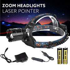 CREE XM-L T6 LED 5000LM Headlight Head Lamp Zoomable Focus + 2x18650 +Charger