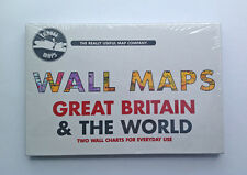 Wall Maps, Great Britain & The World, The Really Useful Map Company  NEW