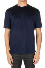 LANVIN New Men Blue Cotton Jersey Round Neck Tee T-shirt Made in Italy