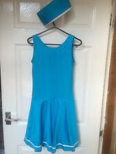 Ladies Fancy Dress Dance Costume Air Hostess With Dress Hat And Scarf Size 10