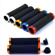 Anti-slip Soft Rubber Handle Bar Mountain Bike Bicycle Scooter Ends Hand Grips *