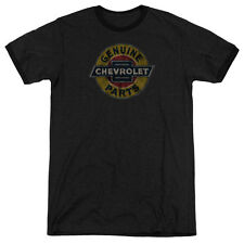 Chevy Genuine Chevy Parts Distressed Sign Mens Adult Heather Ringer Shirt
