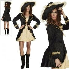 Fever Swashbuckler Costume Ladies Pirate Fancy Dress Outfit 8-18