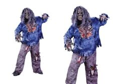 Deluxe Complete Zombie Boys Halloween Horror Fancy Dress Costume