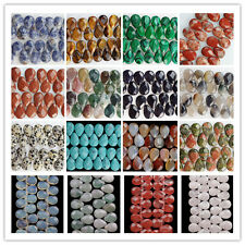 JK40 Wholesale 18x13mm Faceted Natural Mixed Gemstone Teardrop Loose Bead 8 inch