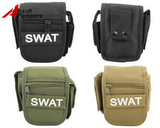 Tactical Military Swat Police Hunting Waist Pack Pouch Bag w/ Flashlight Holster