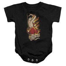 Bettie Page Devil Tattoo Unisex Baby Snapsuit