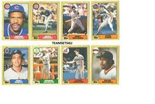 1987 Topps Traded Baseball Team Sets ** Pick Your Team Set **