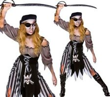 Zombie Pirate Costume Cutthroat Ladies Halloween Fancy Dress Outfit