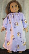 """Doll Clothes fit American Girl 18"""" inch Sleepwear Nightgown Faries Lavender NEW"""