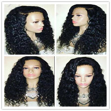 Brazilian curly full lace Front Lace wig 100% Human Hair baby hair bleached knot