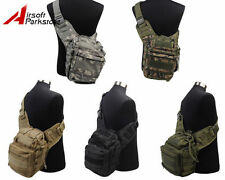Molle Belt Tactical Military Shoulder Bag Backpack Outdoor Climbing Hiking Pouch