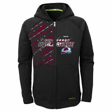 Reebok Colorado Avalanche Youth Black TNT PlayDry Full Zip Hoodie - NHL