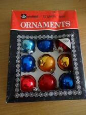 VINTAGE SET OF 10 CHRISTMAS TREE  DECORATIONS IN ORIGINAL BOX BY WINFIELD