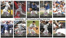 1997 Pinnacle FanFest Baseball Team Sets ** Pick Your Team Set **