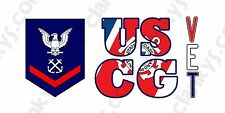 PO3 Petty Officer 3rd Class USCG Veteran Aluminum License Plate Made in USA