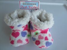 NEW Girl *0-6*6-12*12-18 months* SKIDDERS Booties Slippers Gripper Color Hearts