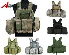 Tactical Military Airsoft Paintball Camo Molle Strike Plate Carrier Combat Vest
