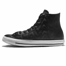 Converse Chuck Taylor All Star Black White Leather Mens Shoes Sneakers 153975C