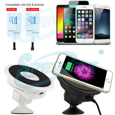 Qi Wireless Car Charger Dock Charging Receiver Pad for iPhone 5 6 7 Samsung etc.
