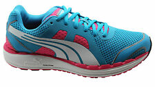 Puma Faas 550 NM Womens Trainers Running Shoes Blue Mesh Lace Up 186269 04 D35