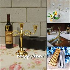 3 Arms Candle Holder Metal Crafts Alloy Candelabra & Candles Home Wedding Decor