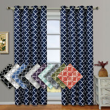"""Meridian Thermal Insulated Blackout Grommet Curtains (Set of 2) 104W x 108""""L"""