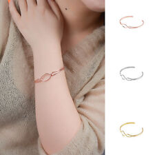 Rose Gold Casual Simple Metal Hollowout Bracelet Upper Arm Bangle Open Armlet