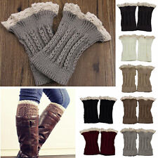 Warmers Womens Lace Trim Leg Fashion Crochet Knit Cuffs Toppers Boot Socks