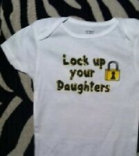 lock up your daughters funny baby boy shirt infant outfit baby tshirt clothes