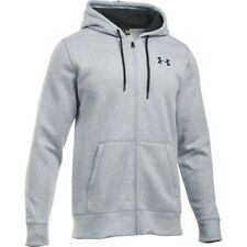 Under Armour Storm Rival Cotton Mens Hoody Zip - True Grey Heather All Sizes