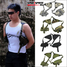 Tactical Military Security Universal Gun Pistol Shoulder Holster Magazine Pouch