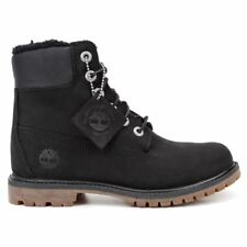 Timberland 6 Inch Premium Fleece Lined Black Womens Boots