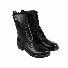 Harley-Davidson Kenova Womens Black Leather Motorcycle Zip Up Boots Shoes