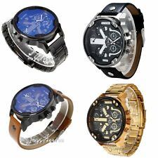 Luxury Men's Army Sport Big Dial Quartz Stainless Steel Analog Strap Wrist Watch
