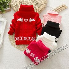 Childrens Rabbit Sweater Turtleneck Baby Cotton Boy Girl Pullover Outerwear