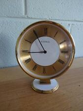 A VINTAGE RETRO ROUND MANTLE CLOCK H SAMUEL MADE IN WEST GERMANY