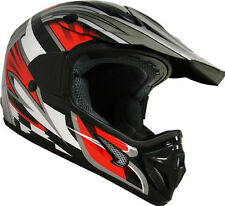 Adult Black Red ATV Motocross Dirt Bike MX Off-Road Dot Helmet~S M L XL XXL