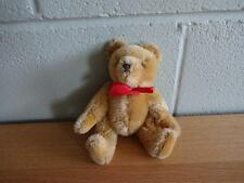 VINTAGE HERMANN JOINTED MOHAIR TEDDY BEAR MADE IN WEST GERMANY 8 INCHES