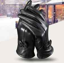 New Driving dance Women Winter Warm Genuine Lambskin Leather Soft Lining Gloves