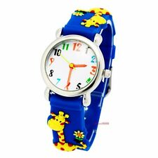 New giraffe Healthy Silicone boys girls Children 3D Kids Sports Watch USHW7