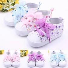 Newborn Kids Baby Boots Girls Lace Up Soft Sole Crib Sneakers Shoes Shoes 0-18M