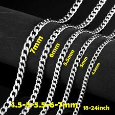 3mm/4.5mm/5mm/5.5mm/6mm/7mm MENS Twist Curb Chain Stainless Steel Necklace