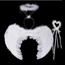3Pcs/Set Halloween Party Fairy Feather Angel Wings Wand Halo Fancy Dress Costume