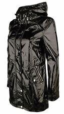 Urban Bliss PVC Raincoat Mac Jacket Coat Women's High Gloss Shiny Black