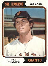 1974 (GIANTS) Topps #533 Mike Phillips RC - EX