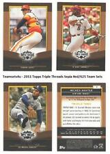 2011 Topps Triple Threads Sepia (#ed/625) Baseball Sets ** Pick Your Team Set **