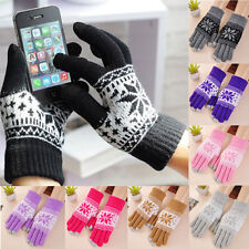 Magic Touch Screen Gloves Smartphone Texting Stretch One Size Winter Warmer Knit