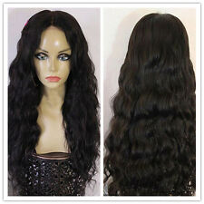 Women Natural Wavy 100% Brazilian remy human hair full lace wigs/lace front wigs